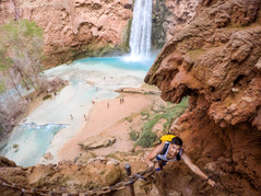 Climbing Up from Mooney Falls