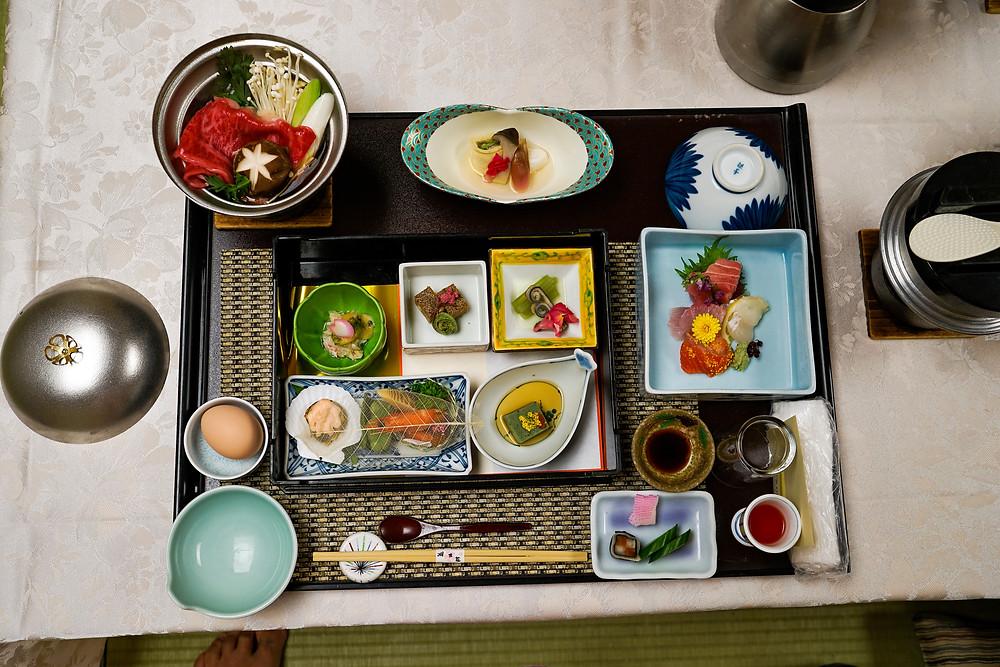 Kaiseki meal in Kawaguchiko Japan