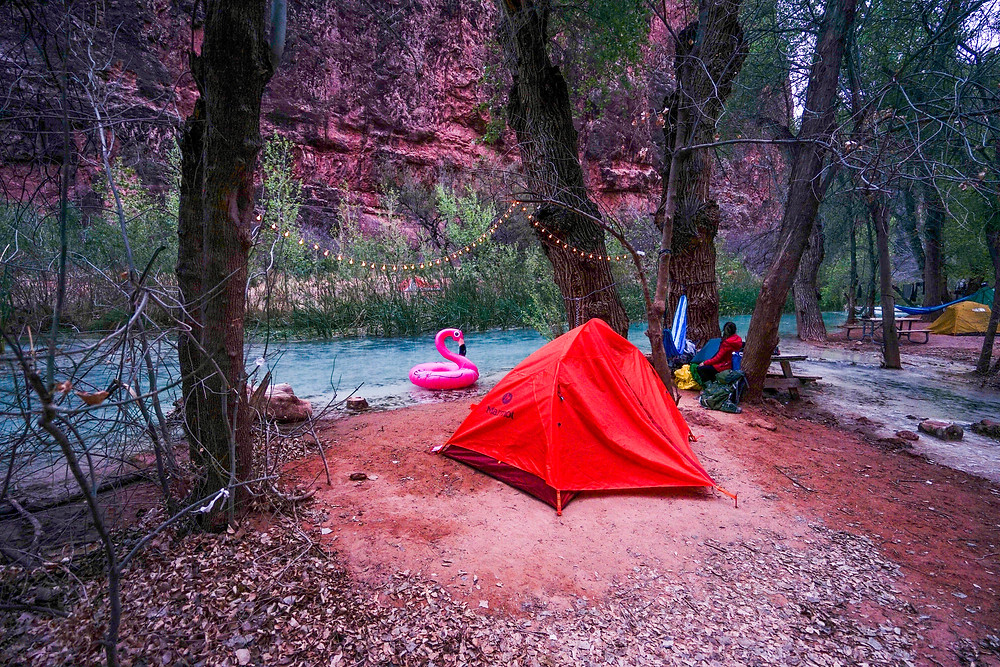 Campsite with a Waterfront of Havasu Creek