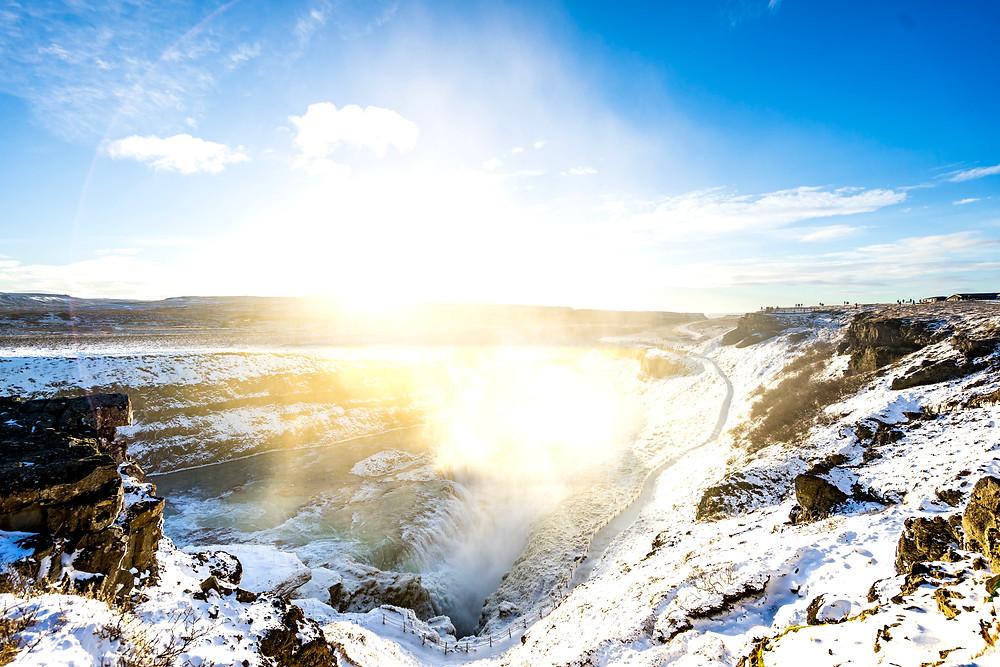 Iceland's Golden Circle - Gullfoss Waterfall