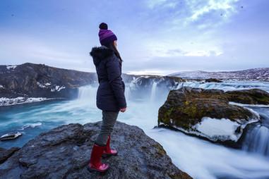 Iceland's Goðafoss Waterfall