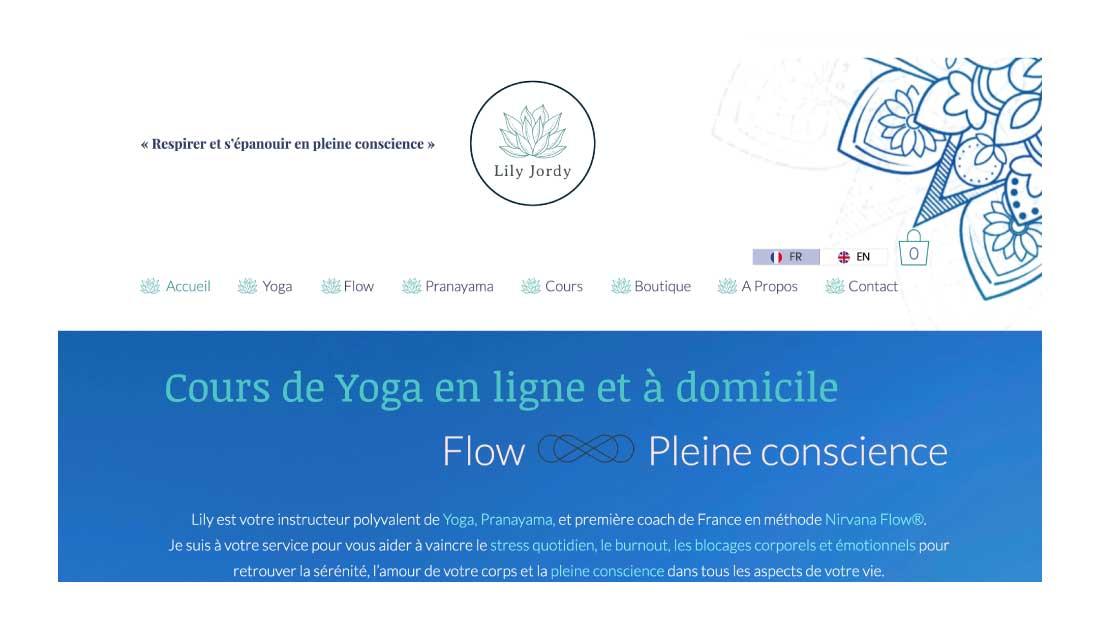 Site e-commerce Yoga en ligne