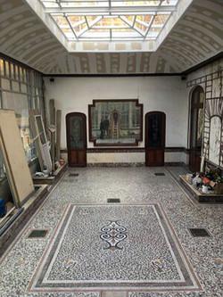 restauration-sol-mosaique-marbre