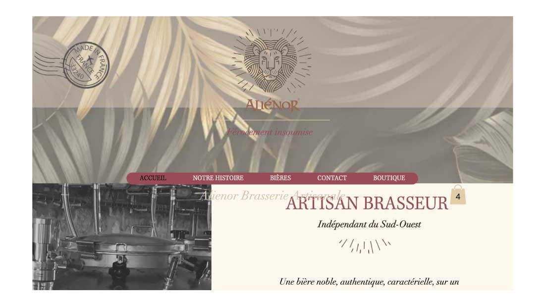 Site Artisan Brasseur Bordeaux