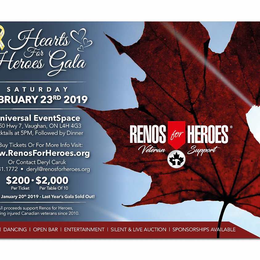Hearts For Heroes Gala