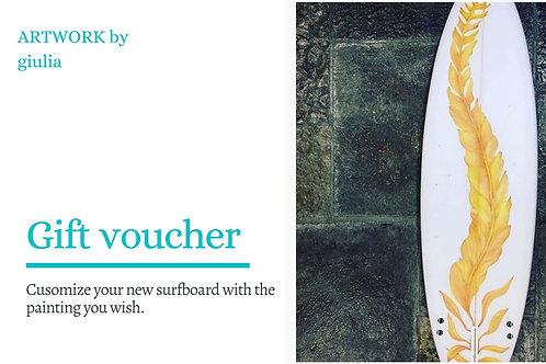 Surf art - gift voucher