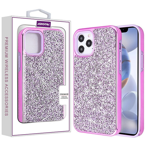 Asmyna Encrusted Rhinestones Hybrid Case for Apple iPhone 12 (6.1)iPhone 12 Pro