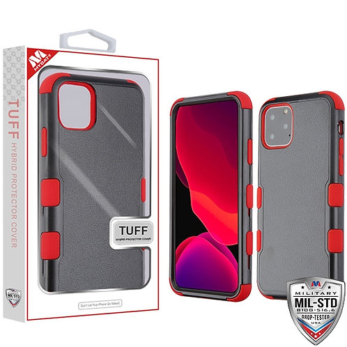 Iphone 11 Pro Natural Black_Red TUFF Hybrid