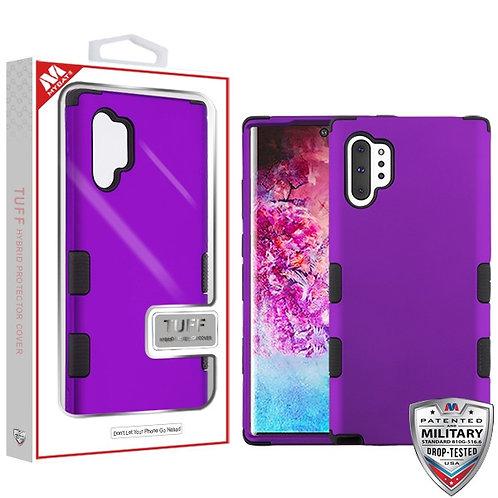 Samsung Note10 plus Rubberized Grape_Black TUFF Hybrid Protector Cover