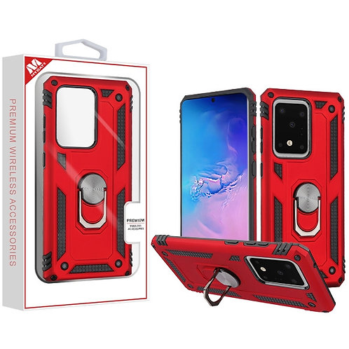 Red/Black Anti-Drop Hybrid Protector Cover (with Ring Stand)