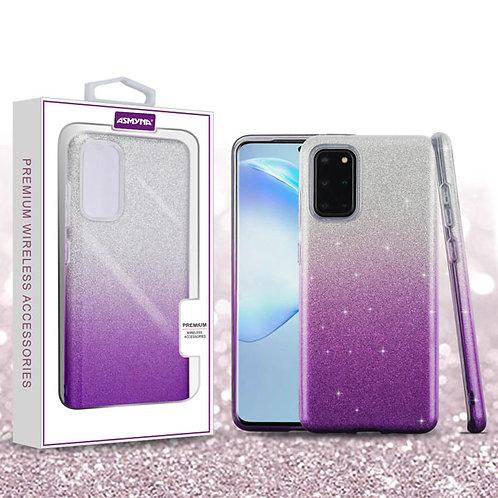 SAMSUNG Galaxy S20 PLUS (6.7) - Asmyna Purple Gradient Glitter Hybrid Protector