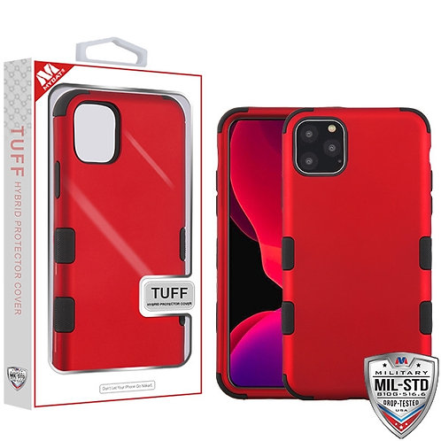 Iphone11 Pro_Titanium Red_Black TUFF Hybrid Cover
