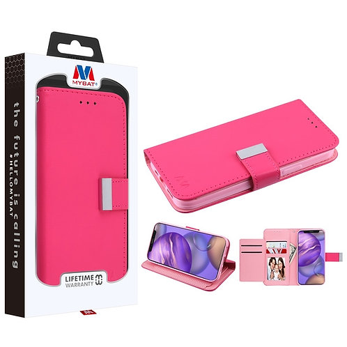 MyBat MyJacket Wallet Xtra Series for Apple iPhone 12 mini (5.4) - Hot Pink - Pi