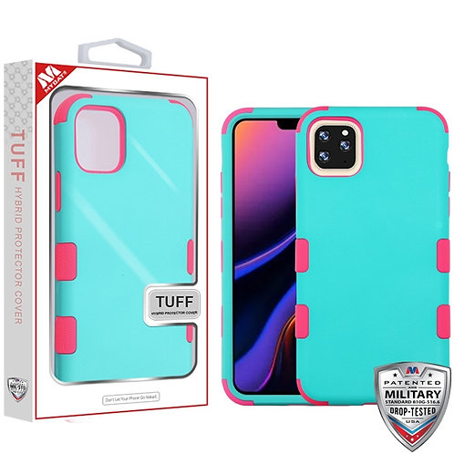 Iphone11 Pro Max_Rubberized Teal Green_Electric Pink TUFF Hybrid case