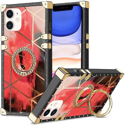 iphone 11-VINTAGE OPULENCE - RED GEO OMBRE