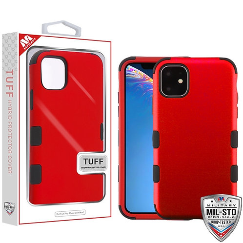 Iphone 11 Titanium Red_Black TUFF Hybrid