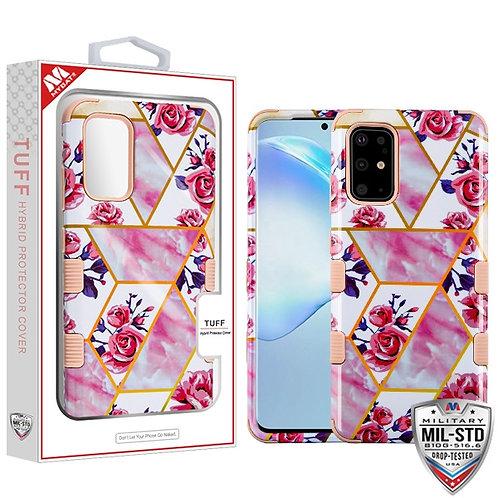 SAMSUNG Galaxy S20 PLUS (6.7) - Mybat Roses Marble-Rose Gold TUFF Hybrid Phone P