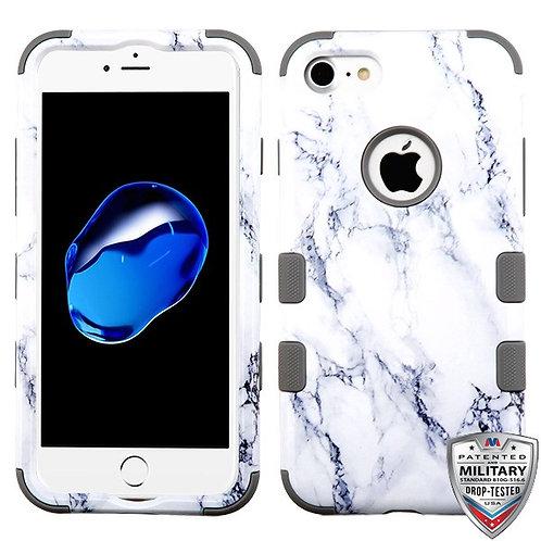Iphone 7/8 White Marbling/Iron Gray TUFF Hybrid