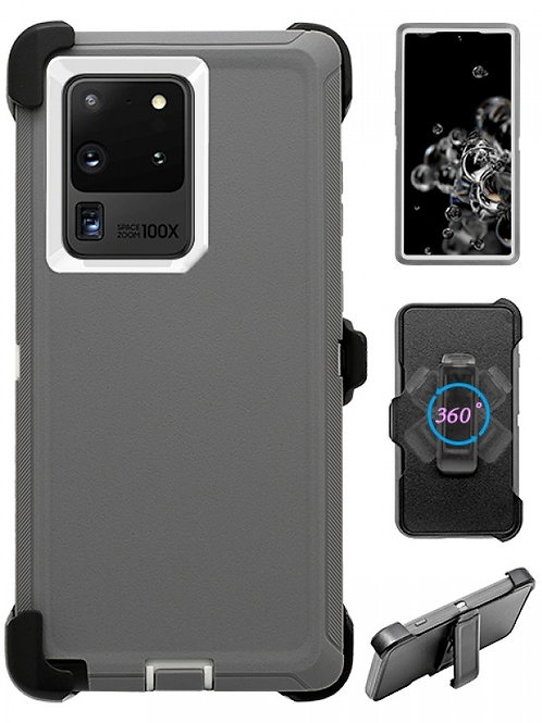 Full Protection Heavy Duty Shockproof Case for Galaxy S20 Ultra-Grey