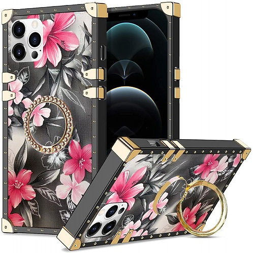 iphone 12 pro Max-VINTAGE OPULENCE - PINK LILY GREY SKY