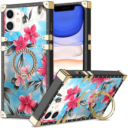 iphone 11-VINTAGE OPULENCE - PINK LILY BLUE SKY