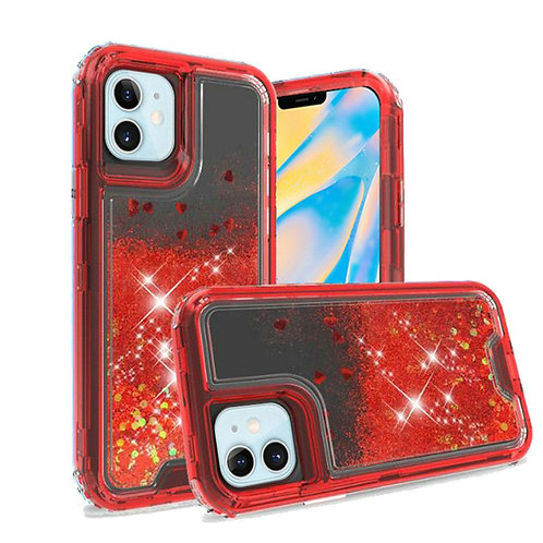 IPHONE 12 (6.1 INCH) WATERFLOATING HARD TPU CASE RED