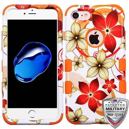 Iphone 7/8 Hibiscus Flower/Orange TUFF Hybrid