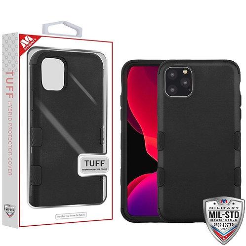 Iphone11 Pro_Rubberized Black_Black TUFF Hybrid Protector Cover