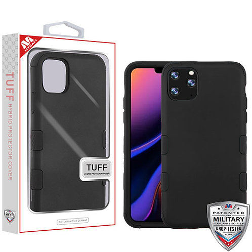 Iphone11 Pro Max_Rubberized Black_Black TUFF Hybrid Phone Protector Cover