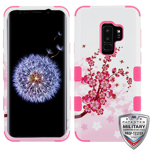 Samsung S9 Plus Spring Flowers_Electric Pink TUFF Hybrid Phone Protector Cover