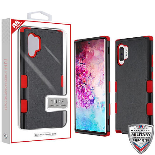 Samsung Note10 Plus Natural Black_Red TUFF Hybrid Protector Cover
