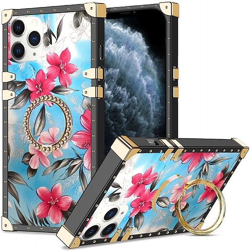 iphone 11 pro Max-VINTAGE OPULENCE - PINK LILY BLUE SKY