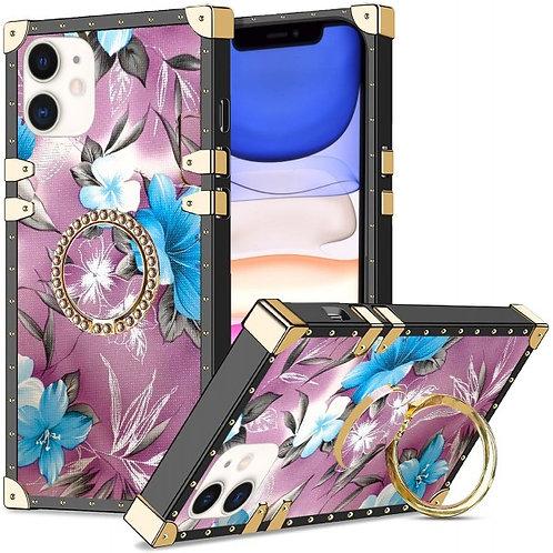 iphone 11-VINTAGE OPULENCE - BLUE LILY PURPLE SKY
