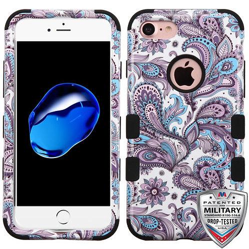 Iphone 7/8 Purple European Flowers/Black TUFF Hybrid
