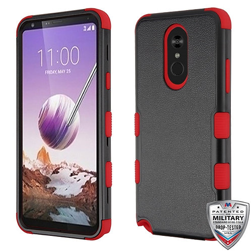 Natural Black_Red TUFF Hybrid Phone Protector Cover [Military-Grade Certified]