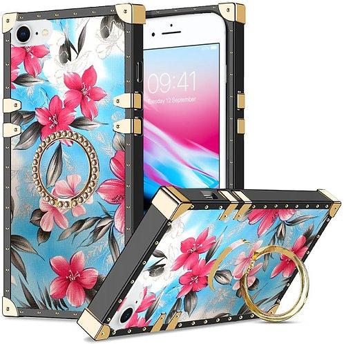 iphone 7-8-SE-VINTAGE OPULENCE - PINK LILY BLUE SKY