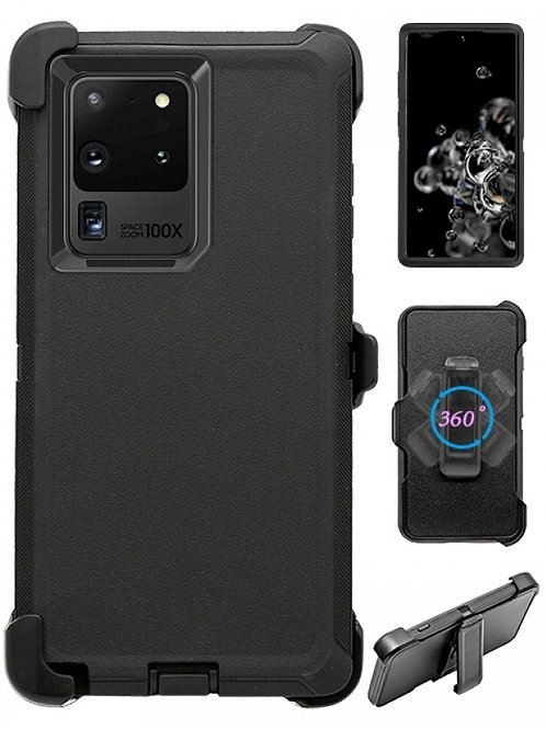Full Protection Heavy Duty Shockproof Case for Galaxy S20 Ultra-Black