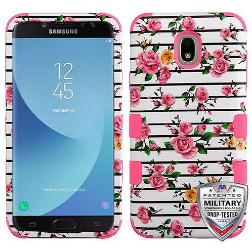 Samsung Galaxy J7(2018) Pink Fresh Roses_Electric Pink TUFF Hybrid Phone Protect