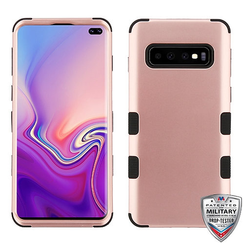 Samsung Galaxy S10 Plus Rose Gold_Black TUFF Hybrid Phone Protector Cover
