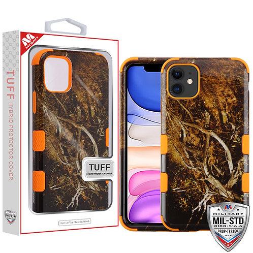 APPLE iPhone 11 - Mybat Yellow-Black Vine-Orange TUFF Hybrid Phone Protector Cov