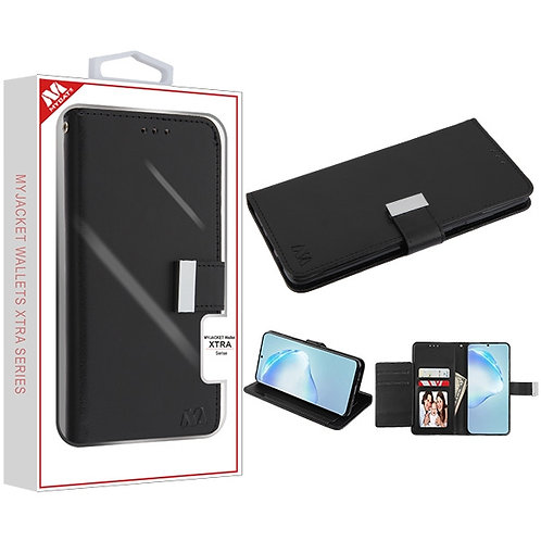 SAMSUNG Galaxy S20 PLUS (6.7) - Mybat Black-Black MyJacket Wallet Xtra Series (G