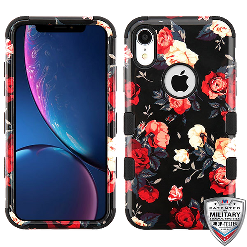 Iphone XR Red/Black Roses