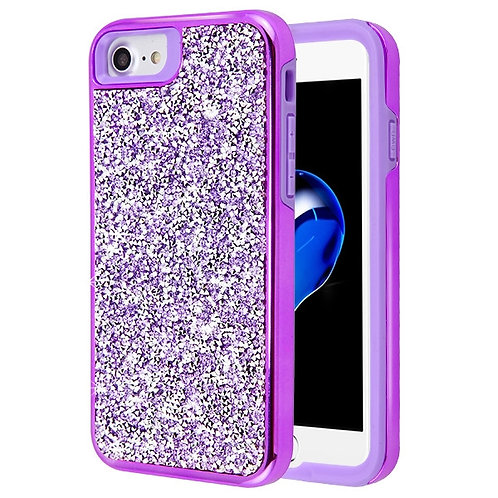 Iphone 7/8 Electroplated Purple Hybrid