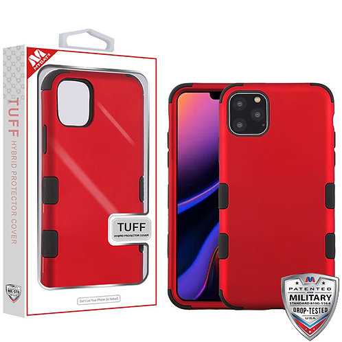 Iphone11 Pro Max_Titanium Red_Black TUFF Hybrid Phone Protector Cover