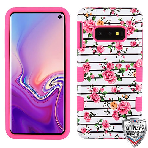 Samsung S10e Pink Fresh Roses_Electric Pink TUFF Hybrid Protector Cover