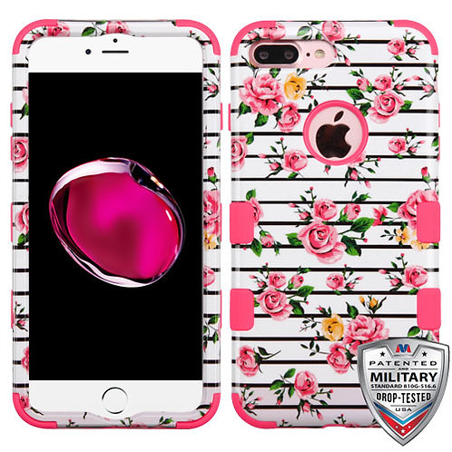 Iphone 7/8 Plus Titanium Red/Black TUFF Hybrid