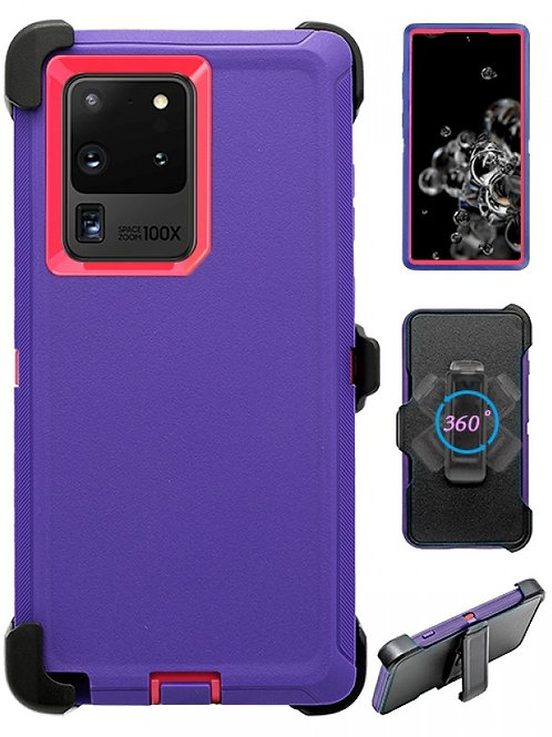 Full Protection Heavy Duty Shockproof Case for Galaxy S20 Ultra-Purple
