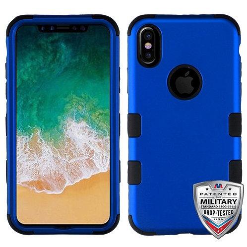 Iphone X/XS Titanium Dark Blue/Black (Tuff Hybrid)