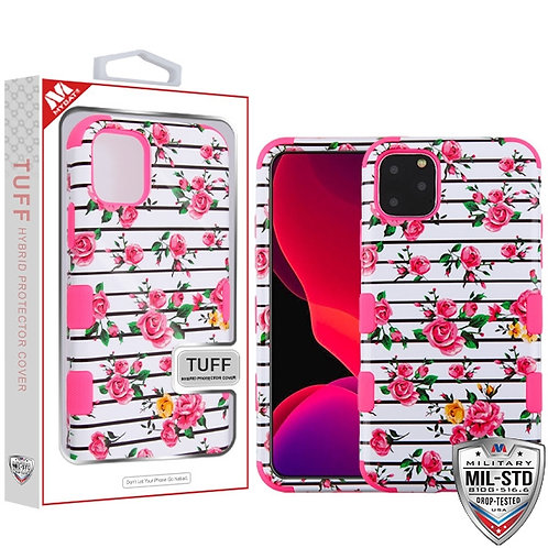 Iphone11 Pro_Pink Fresh Roses_Electric Pink TUFF Hybrid Phone Protector Cove