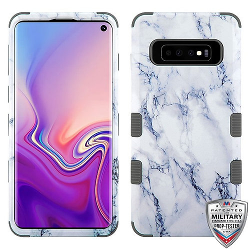 Samsung S10 Marble Iron Gray TUFF Hybrid Protector Cover
